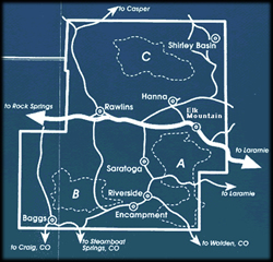 Wyoming Snowmobile Trips: Snowmobile Trail Areas Carbon County, Wyoming