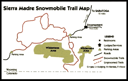 Sierra Madre Snowmobile Map