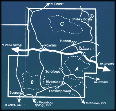 Snowmobile Areas in Carbon County, Wyoming