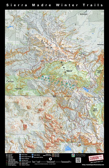 Sierra Madre Winter Sports Map Carbon County WY