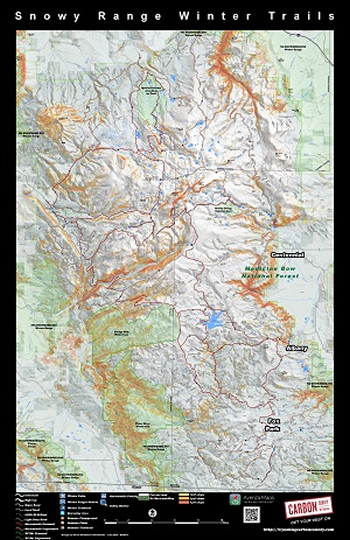 Winter Sports Snowy Range Maps Carbon County WY