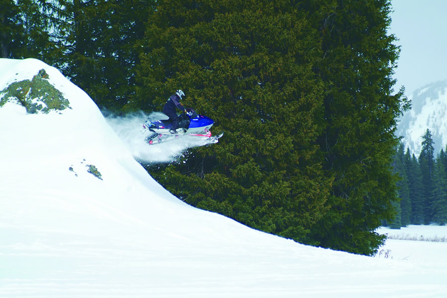 Snowmobiling In The Shirley Basin Wyoming